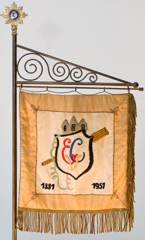 Banner mit dem ECV-Wappen in Farbe