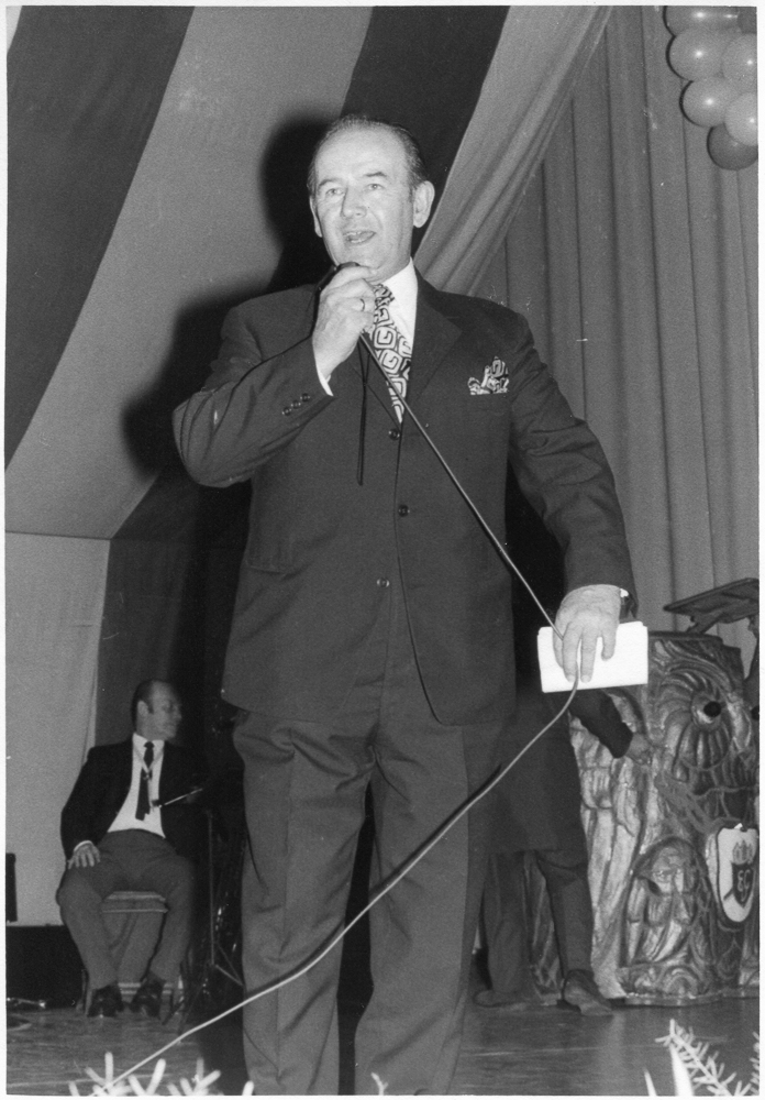 Heinz Flöck beim Seniorennachmittag 1972