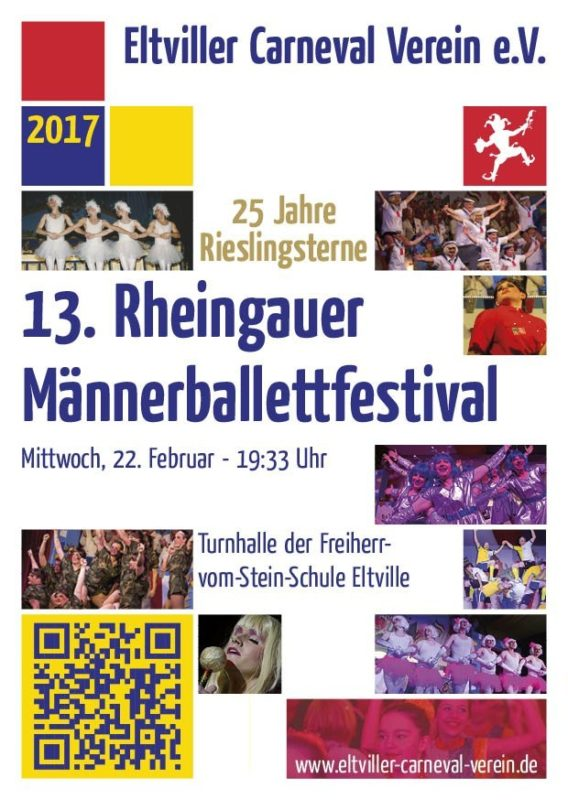 Flyer Männerballettfestival 2017