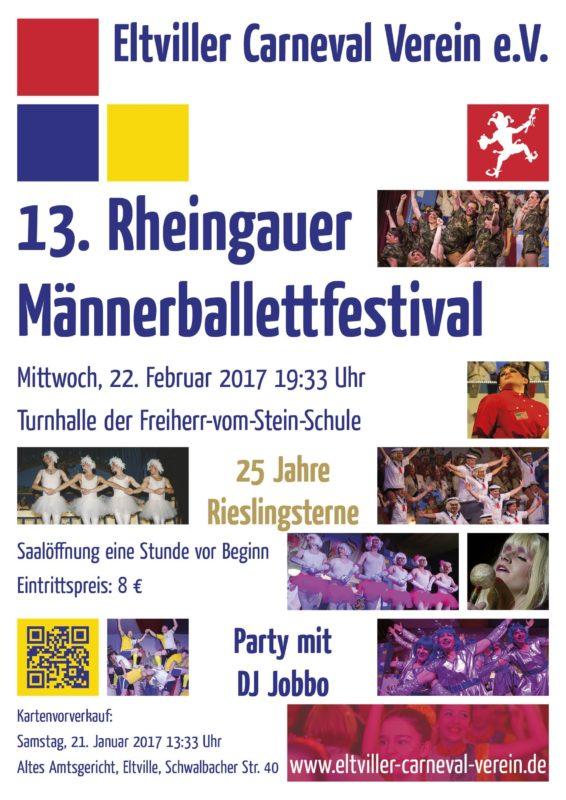 Plakat Männerballettfestival 2017