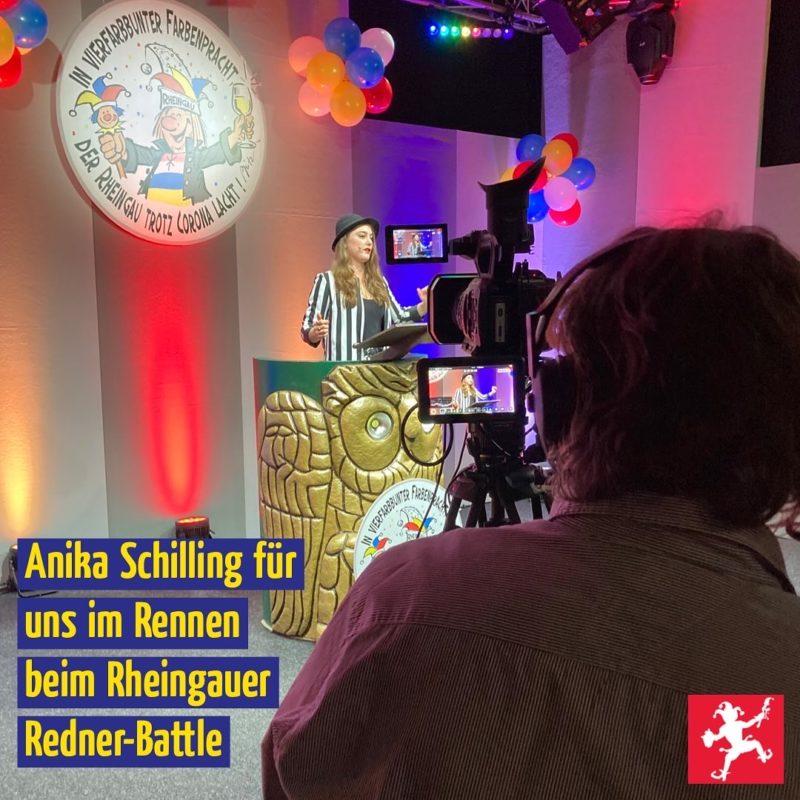 Anika Schilling für uns im Rennen beim Rheingauer Redner-Battle